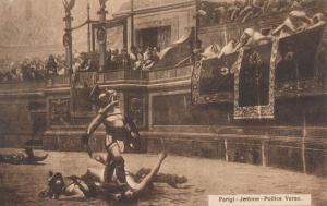 Roman Gladiator Strongbow Vs The Emporer Antique Parigi Jerome Italian Postcard