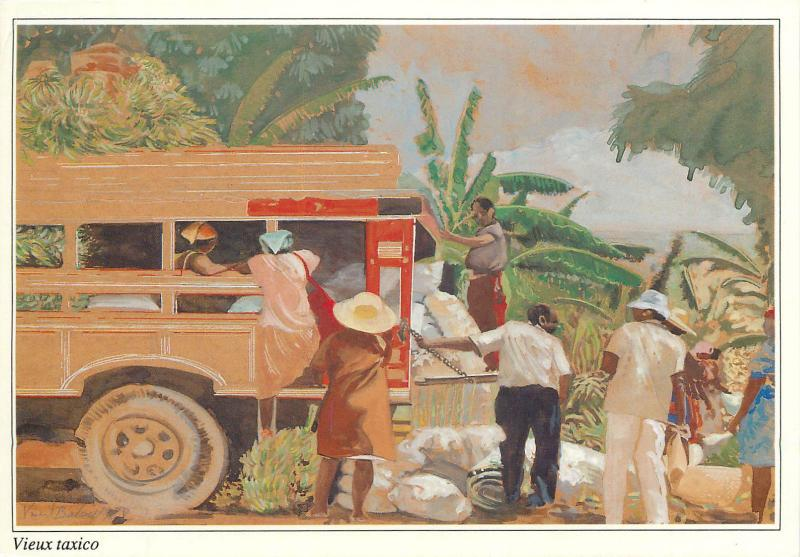 Images des Antilles - Taxi waggon illustration Vincent Balay