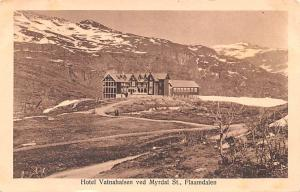 Norway Old Vintage Antique Post Card Hotel Vatnahalsen Writing on back