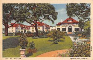 Gainesville Florida Hotel Thomas Street View Antique Postcard K70543