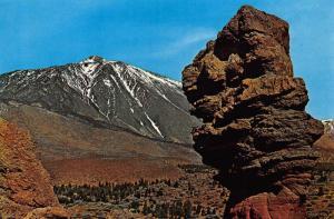 Spain Tenerife Las Canadas y Teide Nevado Mountain Landscape Postcard