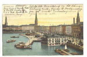 Jungfernstier, Hamburg, Germany, 1900-1910s
