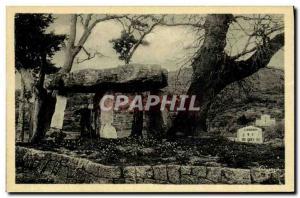 Old Postcard Dolmen Megalith Draguignan Stone the fee