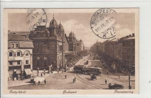 Hungary Budapest Terez-korut 1932 water damage postcard