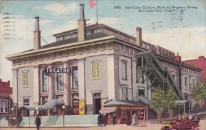 Salt Lake Theatre Built By Brigham Young Salt Lake City Utah 1910