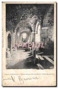 Postcard Abbey Flavigny Cloitre inside the first Benedictine Abbey