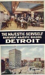 Detroit, Michigan USA The Majestic Servself Unused crease right bottom corner