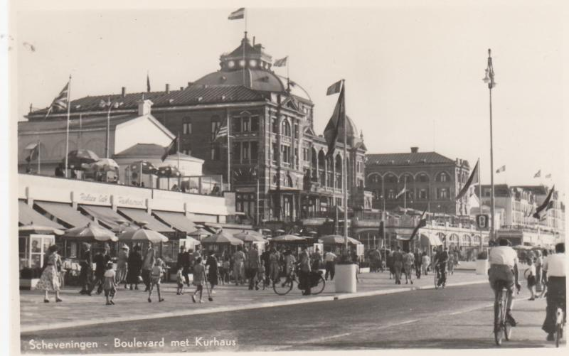 RP, Walking Scene, Boulevard met Kurhaus, Scheveningen (South Holland), Nethe...
