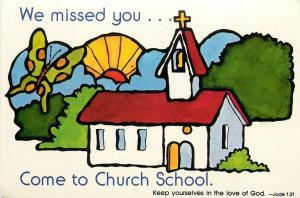 We Missed You Come to Church School Jude 1:21 Postcard