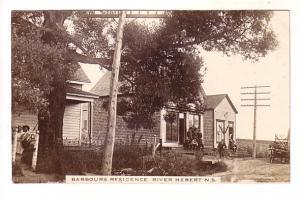Real Photo, Barbours Residence, River Hebert, Nova Scotia,