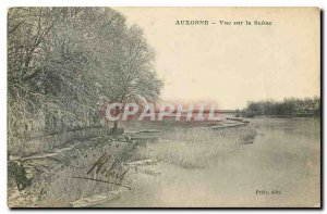Old Postcard Auxonne view of the Saone