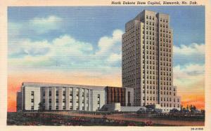North Dakota State Capitol, Bismarck, North Dakota, Early Postcard, Unused