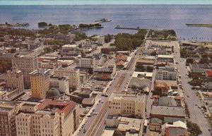 Florida St Petersburg Aerial View Of Downtown 1957