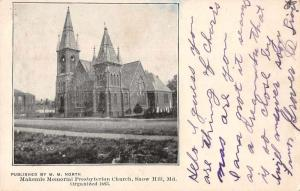 Snow Hill Maryland Makemie Presbyterian Church Vintage Postcard JA4742650