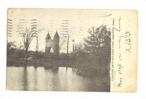 Memorial Arch and Park Pond, Hartford, Connecticut, PU-1908