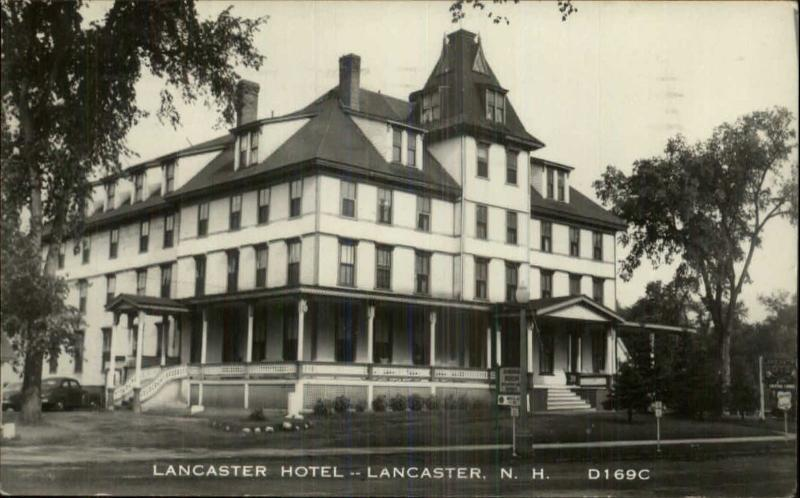 Lancaster Nh Hotel Real Photo Postcard Hippostcard