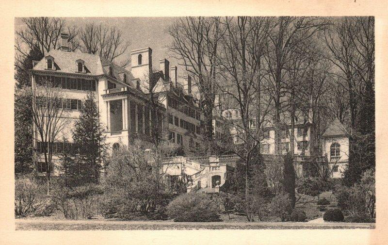 Vintage Postcard 1920s South View Henry Francis Du Pont Winterthur Museum DE