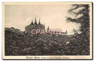 Postcard Old Kutna Hora Sv Chram Panny Barbory Kasarna