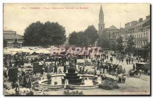 Old Postcard Tarbes Place Marcadieu while walking Corner Flea TOP