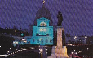 Canada Saint Joseph's Statue and Oratory at Night Montreal Quebec