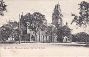 Cambridge Memorial Hall, Harvard College, CAMBRIDGE, Massachusetts, PU-1907