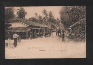 073198 CEYLON Colombo Road to mount Lavinia Vintage Plate PC