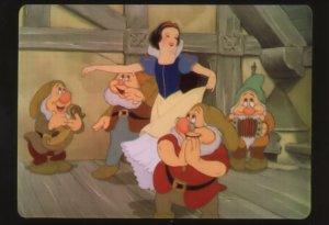 Snow White Music & The Seven Dwarfs Film Frame Movie Postcard