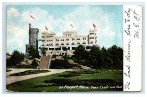 Postcard Casco Castle & Park, South Freeport ME Maine udb 1907 G33