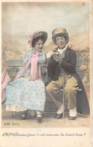 People and Children Photographed on Postcard, Old Vintage Antique Post Card M...