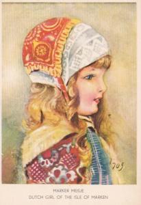 Netherlands Marker Meisje Dutch Girl Of The Isle Of Marken Costume