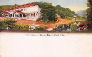 The Landscape Garden, Kanaya, Hotel, Nikko, Japan, Early Postcard, Used