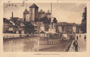ANNECY, Haute Savoie, France, PU-1920 ; Le Port Et Le Chateau #3