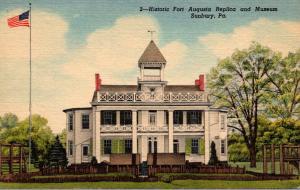 Pennsylvania Sunbury Historic Fort Augusta and Museum Curteich