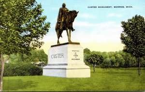 Michigan Monroe Custer Monument