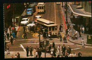 Corner Of Powell & Market Streets San Francisco Cable Car - 1960s - Unused