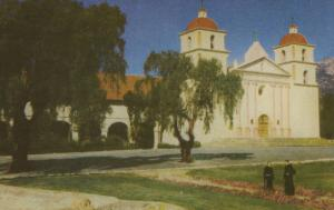 Santa Barbara Mission, CA. Calif, California Union Oil Company Postcard