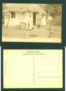 Danish West Indies. Photo Card. Peasants Home. +_ 1910. Lightbourn. See Descri