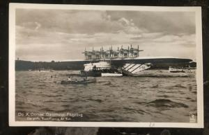 Mint Germany RPPC Real Picture Postcard Do X Largest Sea Plane In The World