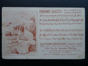 Music Song Theme MA CURLY HEADED BABBY Nègre Clutsam Berceuse c1903 UB Postcard