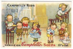 Drayton Cambell's Kids Soup Children Advertising Postcard Number 1