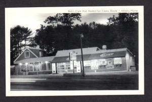 ME Bob's Clam Hut Restaurant Rt 1 Kittery Maine Postcard Ben & Jerry's Sign