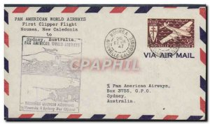 Letter 1 flight Noumea New Caledonia Sydney February 26, 1947