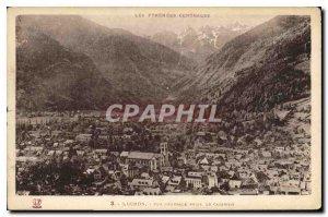 Old Postcard Luchon General view taken Cazarilh