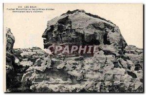 Old Postcard Les Baux Rock Monlithe priests or druids immolalent victims