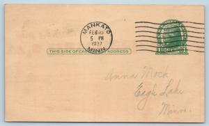 Postal Card MN Mankato Neubert Poultry Farm & Chicken Hatchery 1937 Ad Card P18