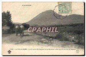 Old Postcard Puy de Dome view taken Crossing Road Baraque and Col de Ceyssat