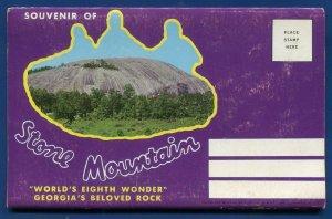 Atlanta Georgia Stone Mountain Confederate Memorial 8th wonder postcard folder