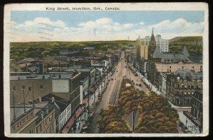 King Street, Hamilton, Ont., Canada. Circa 1922 Valentine & Sons postcard