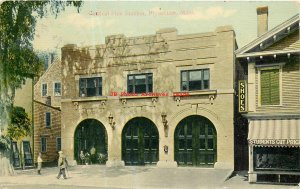 MA, Plymouth, Massachusetts, Central Fire Station Building, 1912 PM