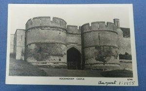 Vintage Real Photo  Postcard Rockingham Castle Nr.Corby Northamptonshire  E1C